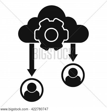 Outsource Data Cloud Icon. Simple Illustration Of Outsource Data Cloud Vector Icon For Web Design Is