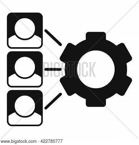 Outsource Gear System Icon. Simple Illustration Of Outsource Gear System Vector Icon For Web Design
