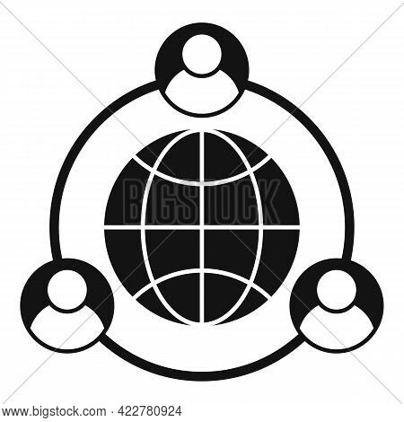 Outsource Global Way Icon. Simple Illustration Of Outsource Global Way Vector Icon For Web Design Is