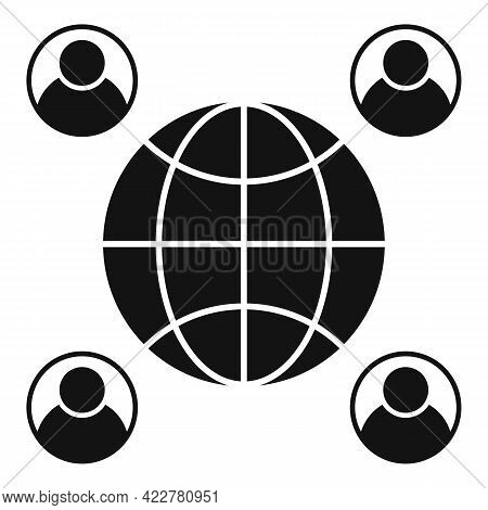 Outsource Global Freelancer Icon. Simple Illustration Of Outsource Global Freelancer Vector Icon For