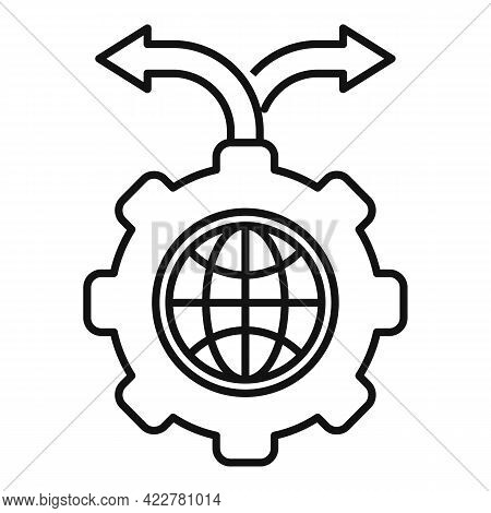 Outsource Global Direction Icon. Outline Outsource Global Direction Vector Icon For Web Design Isola