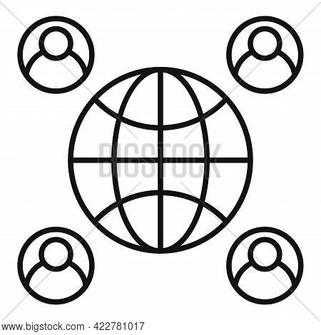 Outsource Global Freelancer Icon. Outline Outsource Global Freelancer Vector Icon For Web Design Iso