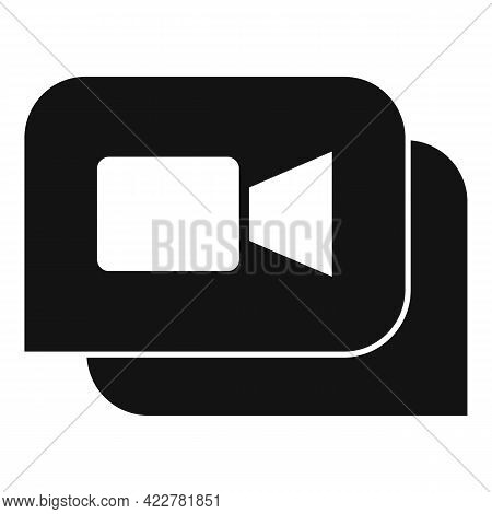Application Video Call Icon. Simple Illustration Of Application Video Call Vector Icon For Web Desig