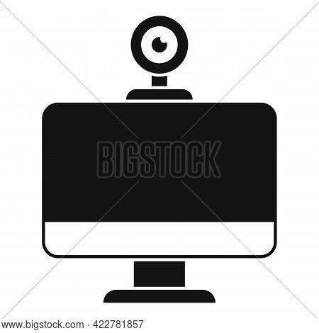 Web Camera Video Call Icon. Simple Illustration Of Web Camera Video Call Vector Icon For Web Design