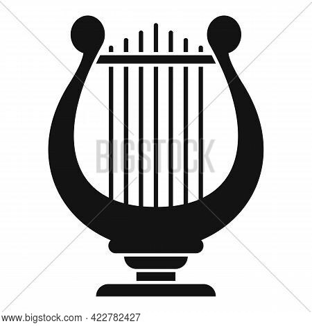 Harp Acoustic Icon. Simple Illustration Of Harp Acoustic Vector Icon For Web Design Isolated On Whit