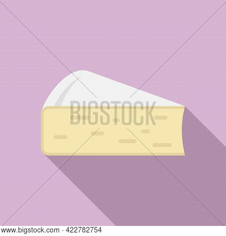 Cheese Soft Icon. Flat Illustration Of Cheese Soft Vector Icon For Web Design