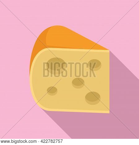 Cheese Fresh Icon. Flat Illustration Of Cheese Fresh Vector Icon For Web Design