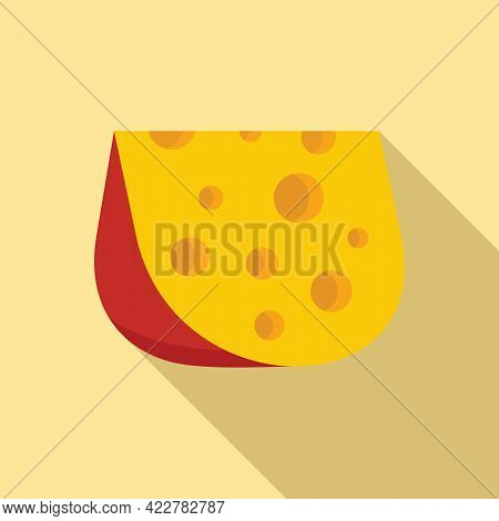 Cheese Goat Icon. Flat Illustration Of Cheese Goat Vector Icon For Web Design