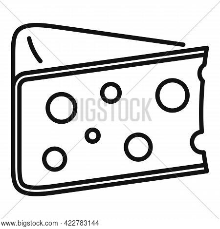 Cheese Kind Icon. Outline Cheese Kind Vector Icon For Web Design Isolated On White Background