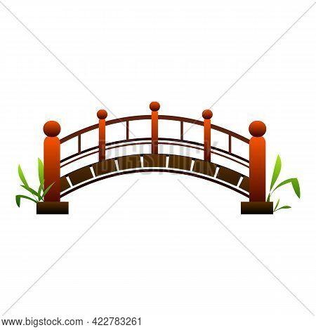 China Bridge Icon. Cartoon Of China Bridge Vector Icon For Web Design Isolated On White Background