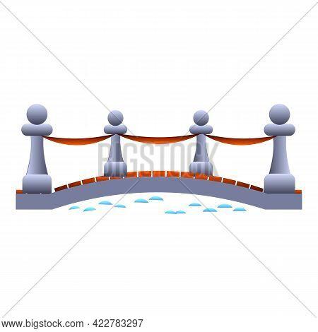 Pillar Bridge Icon. Cartoon Of Pillar Bridge Vector Icon For Web Design Isolated On White Background