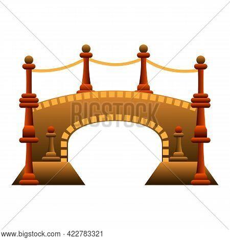 Royal Bridge Icon. Cartoon Of Royal Bridge Vector Icon For Web Design Isolated On White Background
