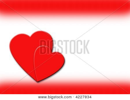 Hearts And Red Border