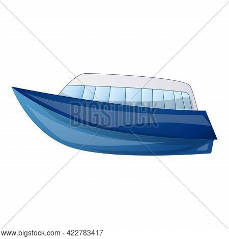 Luxury Yacht Icon. Cartoon Of Luxury Yacht Vector Icon For Web Design Isolated On White Background