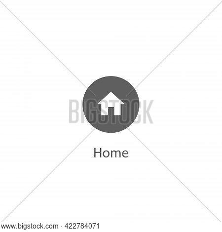 Home Button Icon Vector. Homepage Symbol Illustration