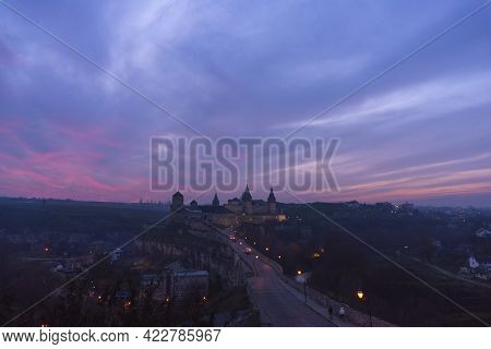 Evening View Of The Castle Kamyanets-podilsky, Ukraine