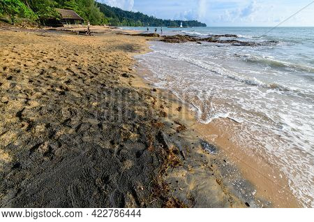 Nangthong Natural Black Beach In Thailand,kholak Phangnga Province, Amazing And Unseen Thailand