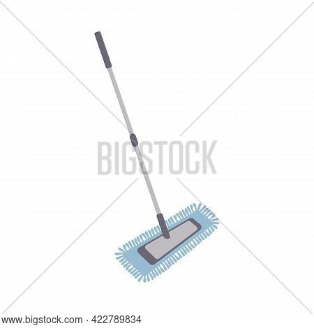 Manual Mop With Fiber Icon. Can Be Used As A Symbol Or Sign. Cleaning Service Concept. Stock Vector