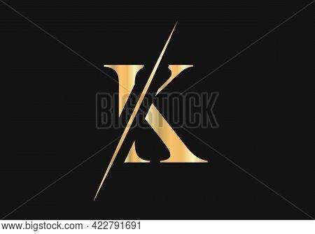 Initial Monogram Letter K Logo Design Vector. Luxury Letter K Logo Design