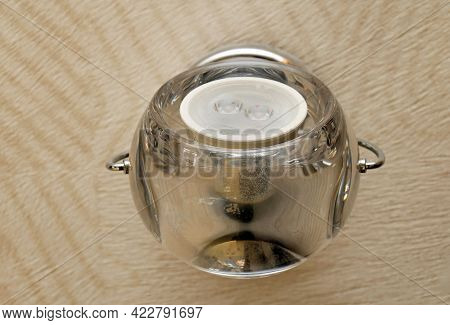 Turned Off Led Bulb Lamp On Interior Wall