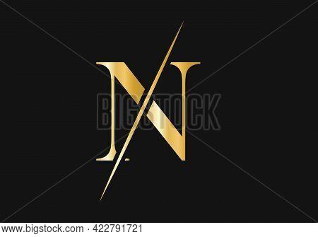 Luxury Letter N Logo Design. Initial  N Logo Design Vector