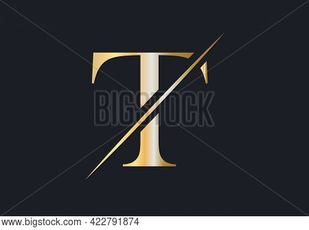 T Letter Logo Design. Luxury Letter T Logo Design Vector. Fashion Logo With T Letter