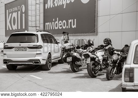 Anapa Russia - June 2 2019 Outdoor Parking Of A Shopping Center. Mall Complex Outdoor Uncovered Park