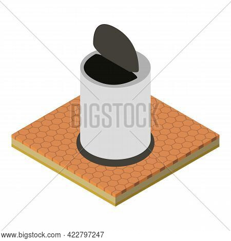 Office Trashcan Icon. Isometric Illustration Of Office Trashcan Vector Icon For Web