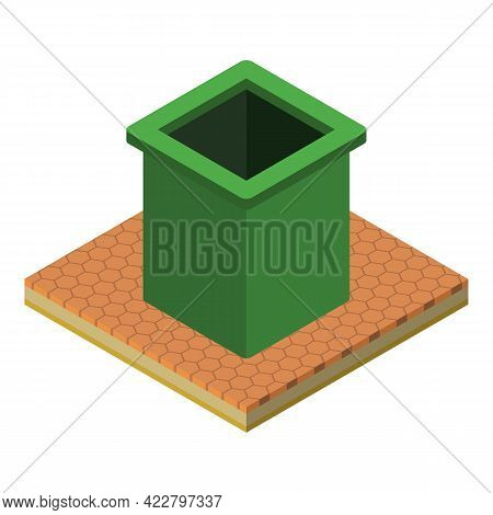 Rubbish Can Icon. Isometric Illustration Of Rubbish Can Vector Icon For Web