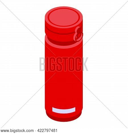 Bottle Thermo Cup Icon. Isometric Of Bottle Thermo Cup Vector Icon For Web Design Isolated On White