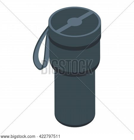Drink Thermo Cup Icon. Isometric Of Drink Thermo Cup Vector Icon For Web Design Isolated On White Ba