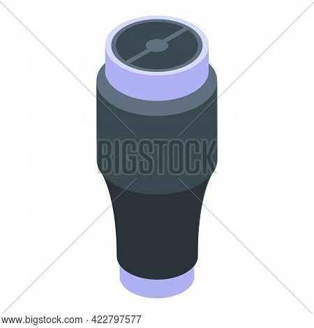Water Thermo Cup Icon. Isometric Of Water Thermo Cup Vector Icon For Web Design Isolated On White Ba