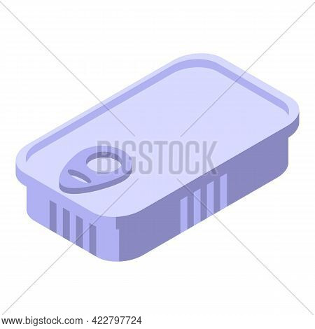 Vitamin D Tin Can Icon. Isometric Of Vitamin D Tin Can Vector Icon For Web Design Isolated On White