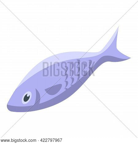 Vitamin D Fish Icon. Isometric Of Vitamin D Fish Vector Icon For Web Design Isolated On White Backgr