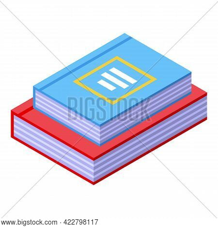 Spiritual Practices Books Icon. Isometric Of Spiritual Practices Books Vector Icon For Web Design Is