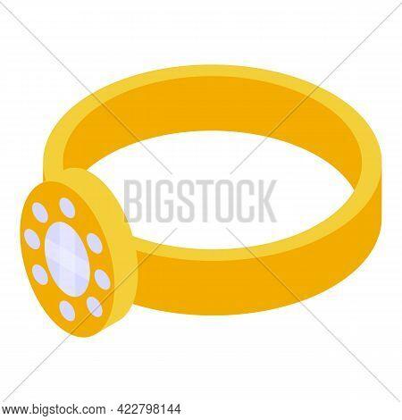 Spiritual Practices Ring Icon. Isometric Of Spiritual Practices Ring Vector Icon For Web Design Isol