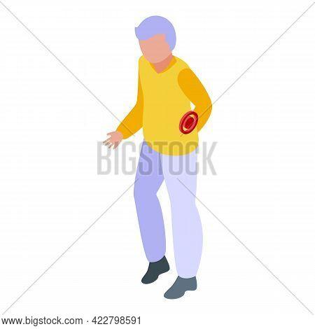 Arthritis Backache Icon. Isometric Of Arthritis Backache Vector Icon For Web Design Isolated On Whit