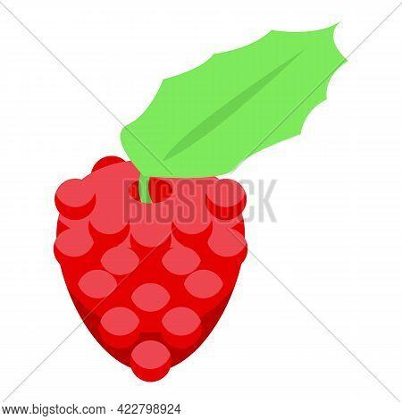 Fresh Raspberries Icon. Isometric Of Fresh Raspberries Vector Icon For Web Design Isolated On White