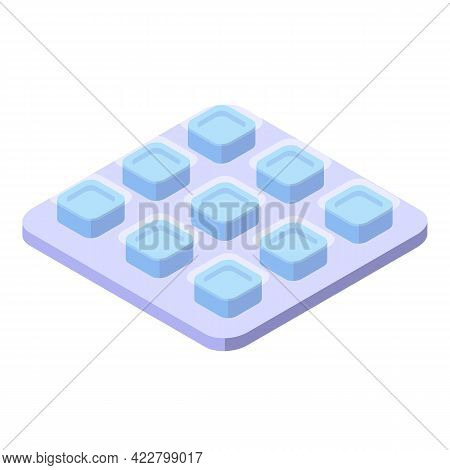 Cough Drops Package Icon. Isometric Of Cough Drops Package Vector Icon For Web Design Isolated On Wh