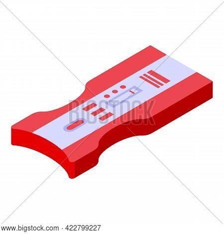 Covid Test Diagnostic Icon. Isometric Of Covid Test Diagnostic Vector Icon For Web Design Isolated O