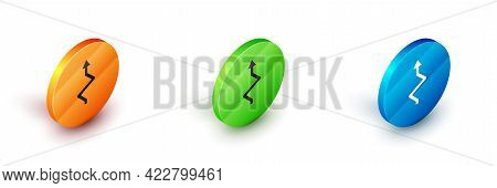 Isometric Arrow Icon Isolated On White Background. Direction Arrowhead Symbol. Navigation Pointer Si
