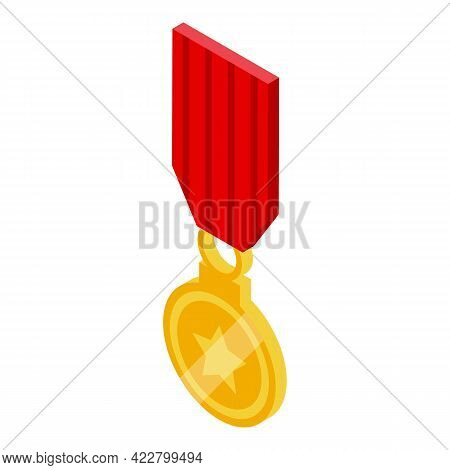 Ranking Medal Icon. Isometric Of Ranking Medal Vector Icon For Web Design Isolated On White Backgrou