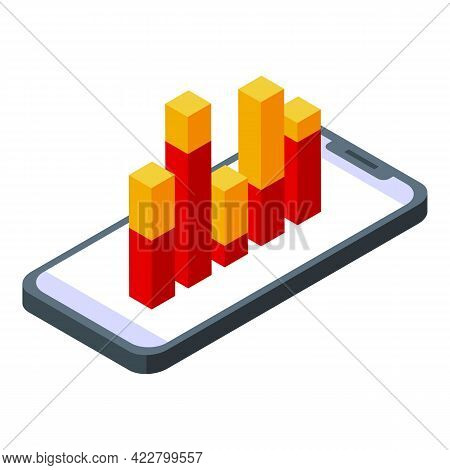 Ranking Graph Chart Icon. Isometric Of Ranking Graph Chart Vector Icon For Web Design Isolated On Wh