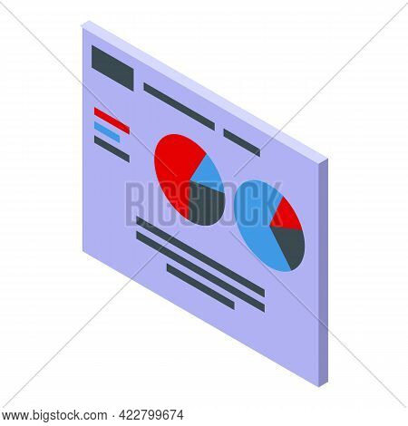 Ranking Banner Graph Icon. Isometric Of Ranking Banner Graph Vector Icon For Web Design Isolated On