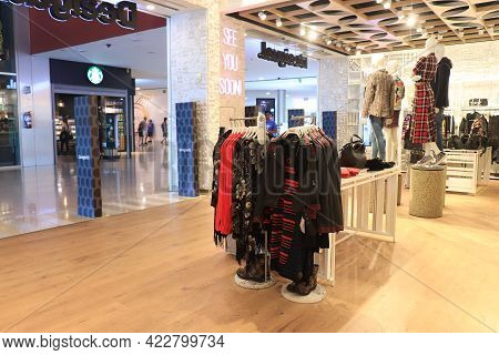 Barcelona, Spain - September 29th 2019: Desigual Clothing Store In Maremagnum Shopping Mall In Barce