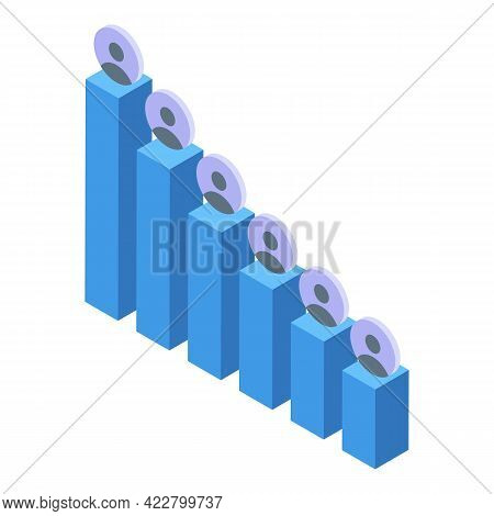 Ranking Avatar Graph Icon. Isometric Of Ranking Avatar Graph Vector Icon For Web Design Isolated On
