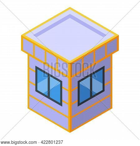 Paid Parking Payment Window Icon. Isometric Of Paid Parking Payment Window Vector Icon For Web Desig