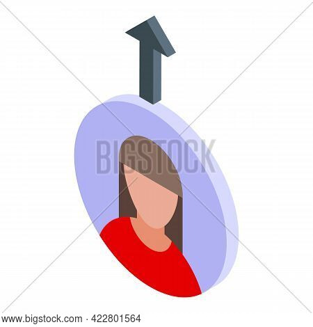 Delete User Avatar Icon. Isometric Of Delete User Avatar Vector Icon For Web Design Isolated On Whit