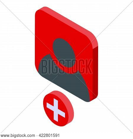 Delete User Person Icon. Isometric Of Delete User Person Vector Icon For Web Design Isolated On Whit