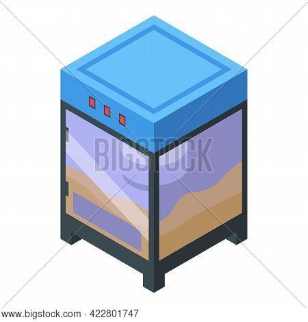 Popcorn Cube Maker Machine Icon. Isometric Of Popcorn Cube Maker Machine Vector Icon For Web Design